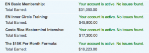 Empower Network Commissions Screen-Shot