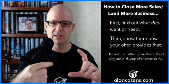 AlanCosens.com How to Get More Sales