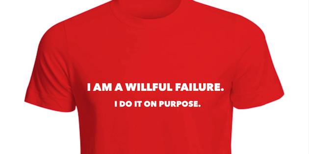 Alan Cosens Willful Failure T-Shirt