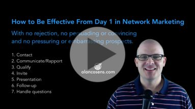 How to be effective in network marketing from Day 1