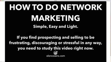 How To Do Network Marketing Stress-Free (the Correct Way)