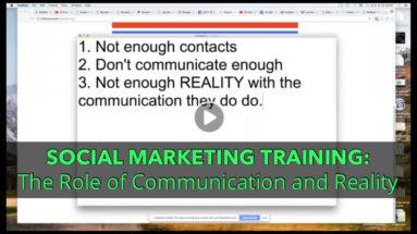 Social Marketing Training: Communication and Reality, Alan Cosens