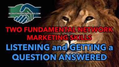 Alan Cosens - Fundamental Network Marketing Skills: Getting A Question Answered