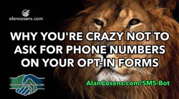 SMS Bot Text Message Marketing System Alan Cosens
