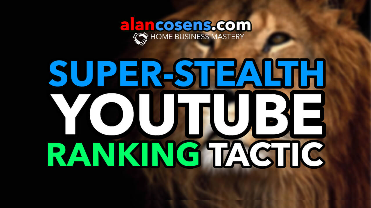 Super-Stealth Youtube Video Ranking Tactic   PointRank