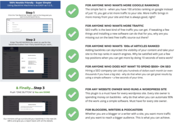 WP Backlinks Machine | Download This New 1-CLICK SEO Plugin For WordPress That Will Get You 1000s of Backlinks on AUTOPILOT & Help Rank Your Site Higher...
