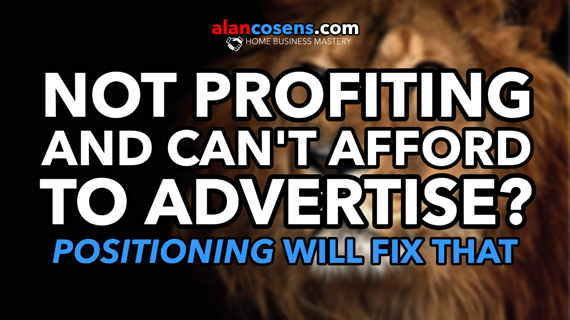Not Profiting and Can't Afford Advertising?