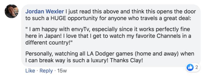 Envy TV Testimonial Jordan Wexler