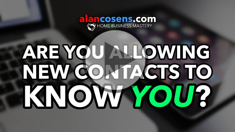 Are You Allowing Contacts To Know YOU?