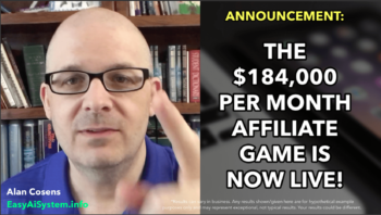 ANNOUNCEMENT: The $184K Per Month Affiliate Game is Live!
